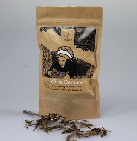 White Demure baltoji arbata